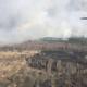 Дві доби триває пожежа на півночі області. Для боротьби із вогнем залучили авіацію