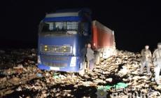 """У Коростені затримали три вантажівки з """"львівським"""" сміттям"""