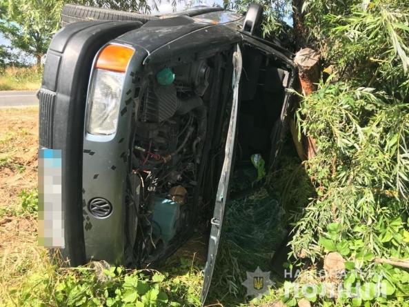 Під Новоградом перекинувся автомобіль. Травми отримали 2 дорослих та 4 дитини