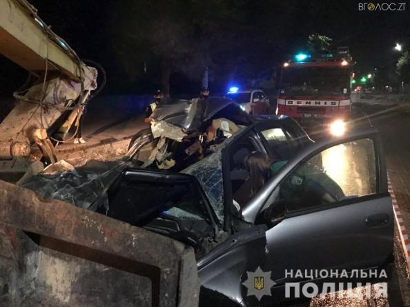 Зіткнення з екскаватором: вночі у жахливій ДТП на Гагаріна загинув 19-річний хлопець