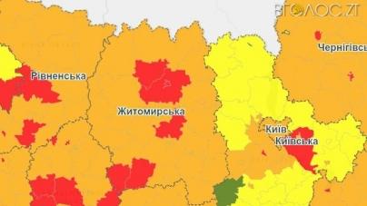 Коростень та 5 районів області потрапили до «червоної зони»