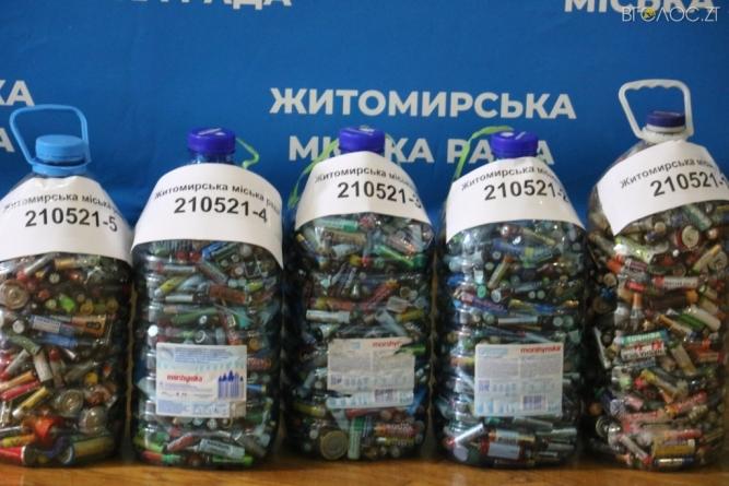 100 кг відпрацьованих батарейок Житомир відправить на переробку до Румунії