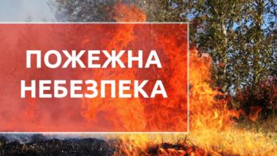 Житомирян попереджають про надзвичайний рівень пожежної небезпеки