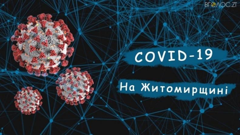 Протягом останньої доби на Житомирщині на коронавірус захворіли 33 особи
